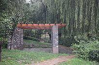 园林里面的凉亭休息亭