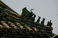 古代屋檐上的神兽五个神兽等级较低