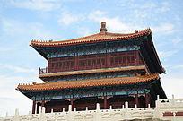 古典风格建筑宫殿和汉白玉栏杆