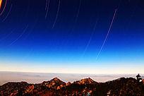 白鹅山庄夜景星轨