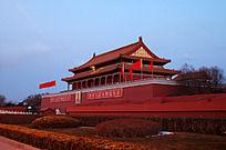 傍晚时分的北京天安门景色