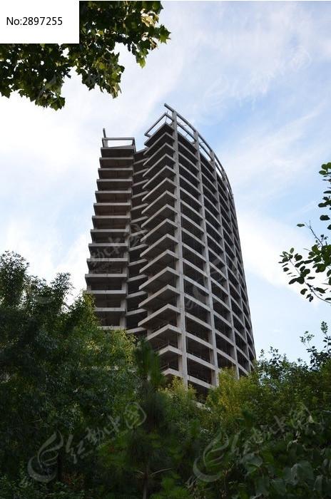 树林中的寿光企业总部在建大厦图片素材下载(编号:)