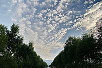 形状怪异的云彩