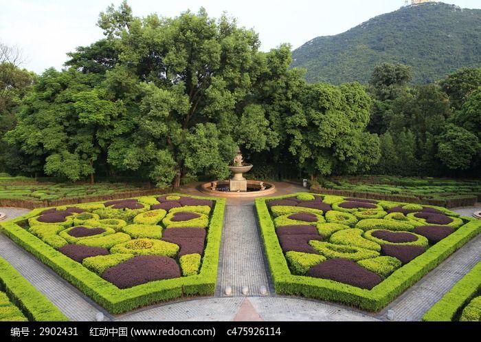 黑山植物园欧式园林对称图片