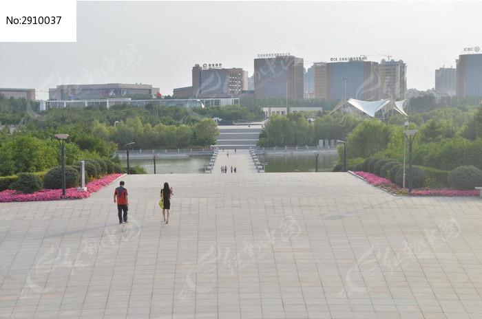 俯视公园图片,高清大图