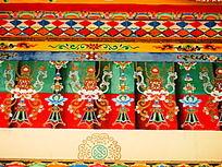 寺墙上的手绘