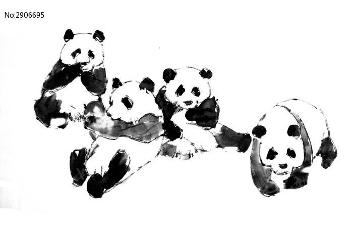 熊猫画图片,高清大图_插画绘画素材
