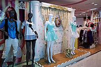 橱窗模特服装展示