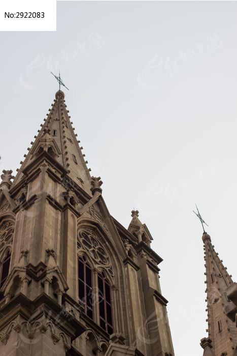 欧式教堂屋顶图片_建筑摄影图片