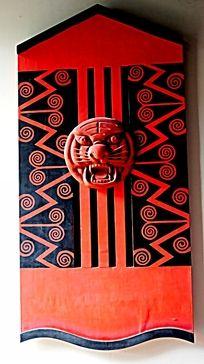 壁画 中国元素 中国红