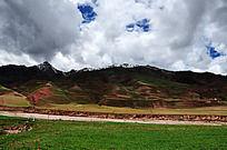 高原雪山河流草原