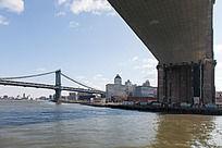 曼哈顿大桥与布鲁克林桥遥相呼应