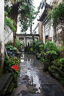 黟县西递民居东园的庭院景观