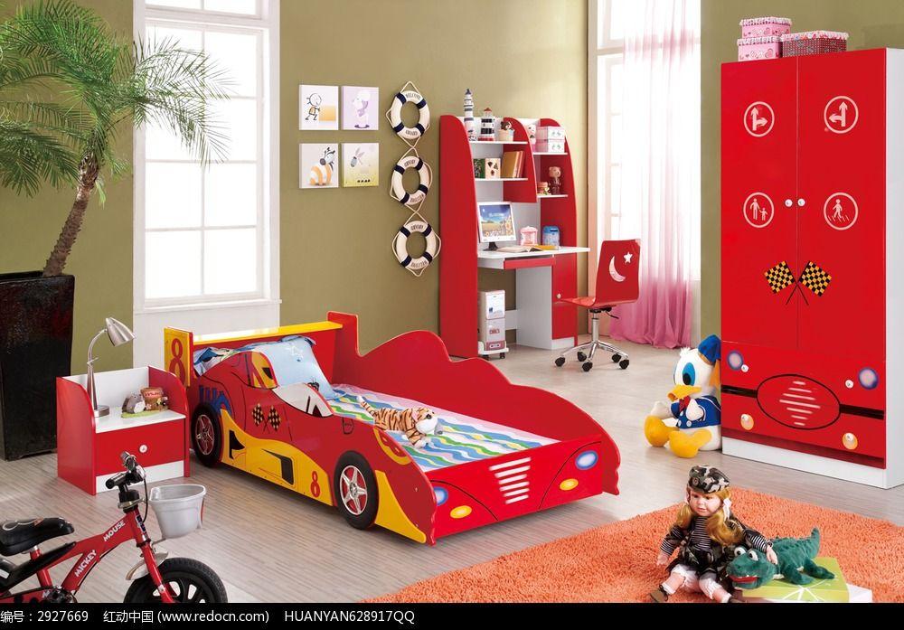 红色儿童床图片素材下载(编号:2927669)