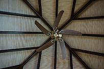 马尔代夫Coco岛酒店豪华水屋中的五叶吊扇