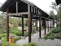 木构架连廊