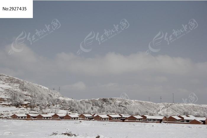 雪中的新农村房子图片,高清大图_冰川雪地素材