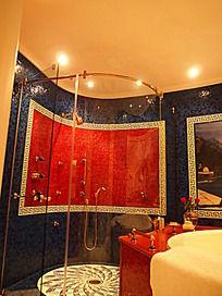 帆船酒店房间的淋浴室