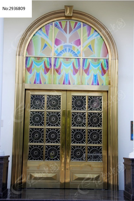 复古欧式花纹门窗图片