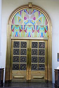 复古欧式花纹门窗