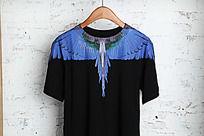 淘宝短袖T 挂拍 黑色 翅膀图案
