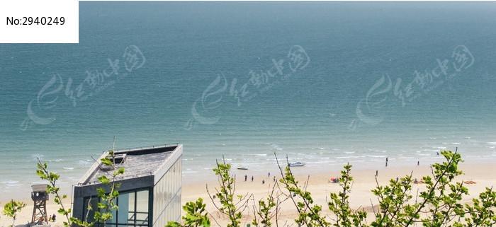 连云港连岛大沙湾海滨浴场东面海滩部分图片