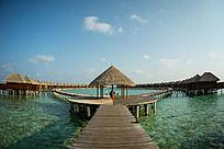 马尔代夫Coco岛水上别墅区的迎宾厅