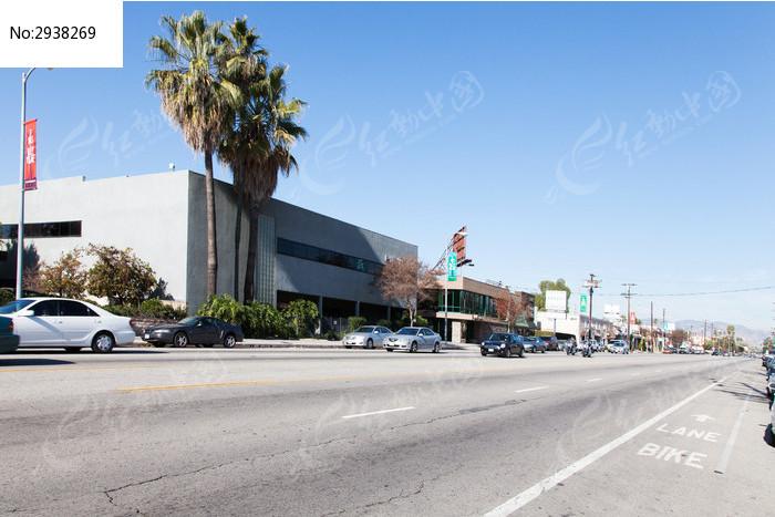 美国洛杉矶郊区公路
