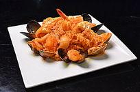 龙虾汁海鲜捞饭