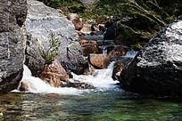 黄山翡翠谷 瀑水依然