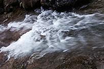 黄山翡翠谷 清泉水流