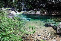 黄山翡翠谷 青狮池