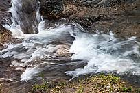 黄山翡翠谷 溪水幔莎