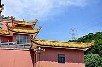 厦门观音山的寺庙一角