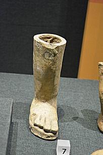 意大利的伊特鲁立亚展品中的陶脚