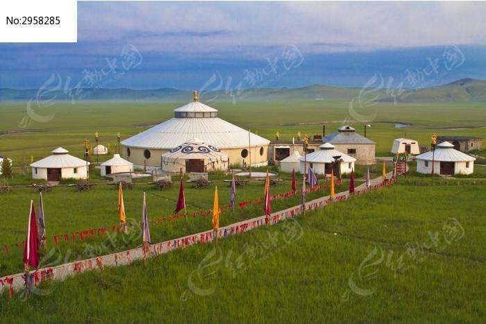 草原蒙古包图片_图片_红动手机版