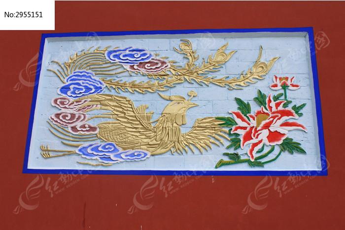 凤凰石壁刻画图片素材下载(编号:2955151)