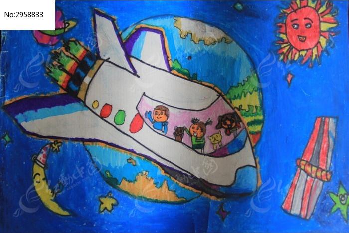 孩子的科幻绘画图片