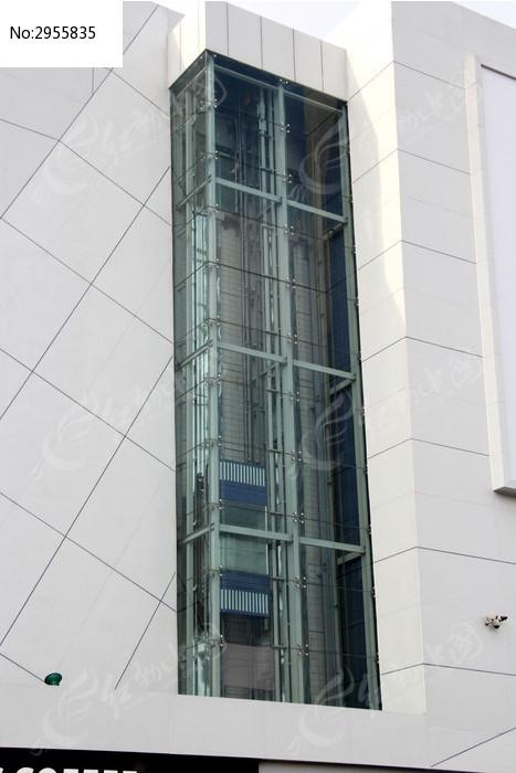 商场的透明玻璃观光电梯高清图片下载 编号2955835 红动网