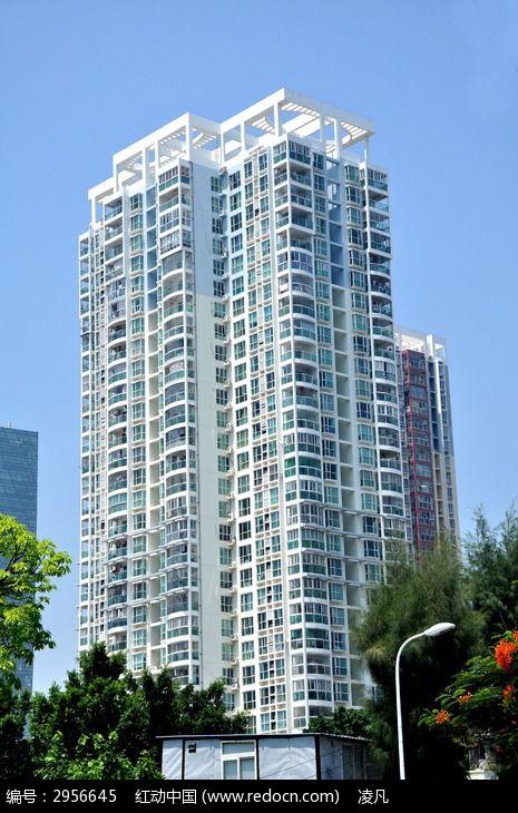 厦门 高楼大厦 蓝天 绿树