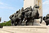 西安大唐不夜城的骑马将军雕像