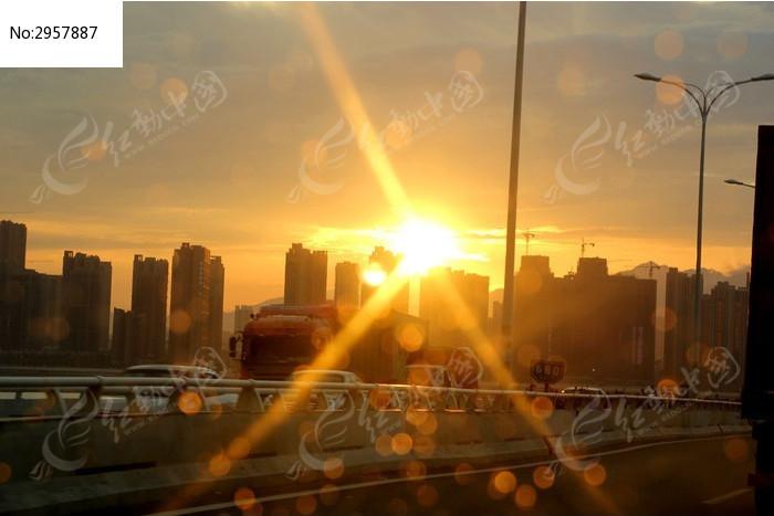 夕阳西下图片背景素材