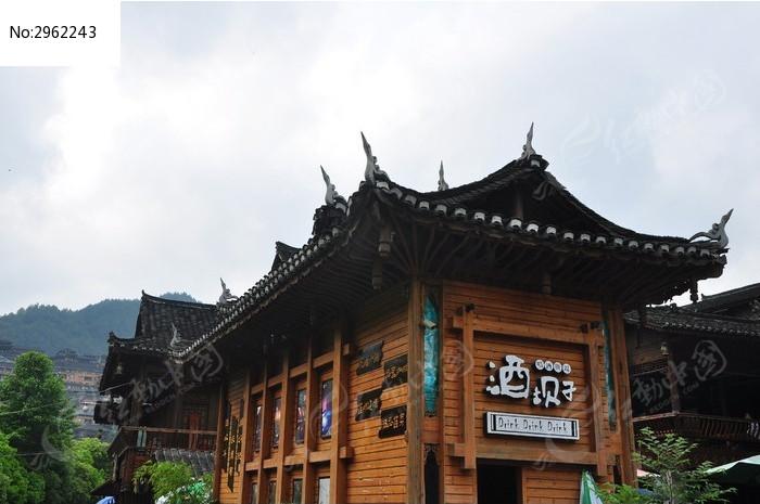 古代木屋酒馆古建筑