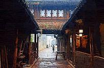 古建筑油画