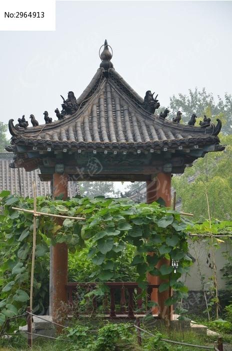 潍坊杨家埠古建筑之尖顶凉亭高清图片下载 编号2964913 红动网