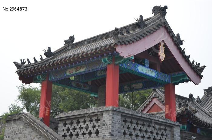 潍坊杨家埠古建筑之凉亭高清图片下载 红动网