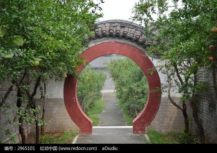 潍坊杨家埠古建筑之圆形拱门图片
