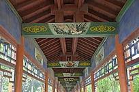 潍坊杨家埠民间艺术大观园古建筑之长廊横梁