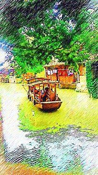 乌镇风景画