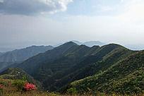 黟县五溪山 雄伟的山峰